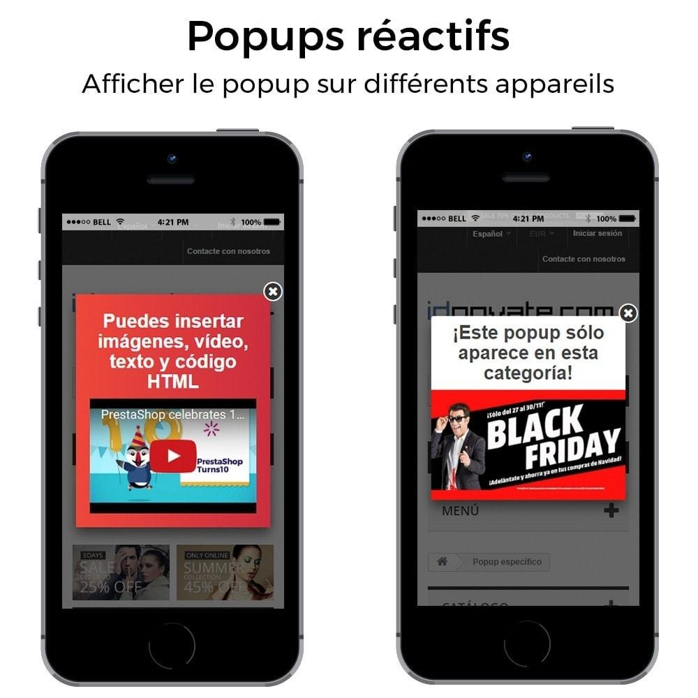 module - Pop-up - Pop-up d'entrée, sortie, ajout de produits, newsletter - 8