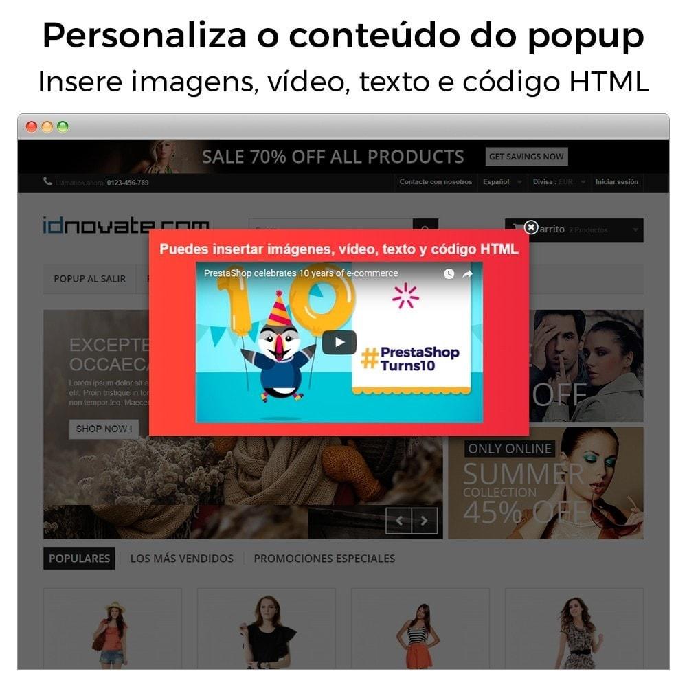 module - Pop-up - Popup ao entrar, sair, adicionar produtos e newsletter - 2