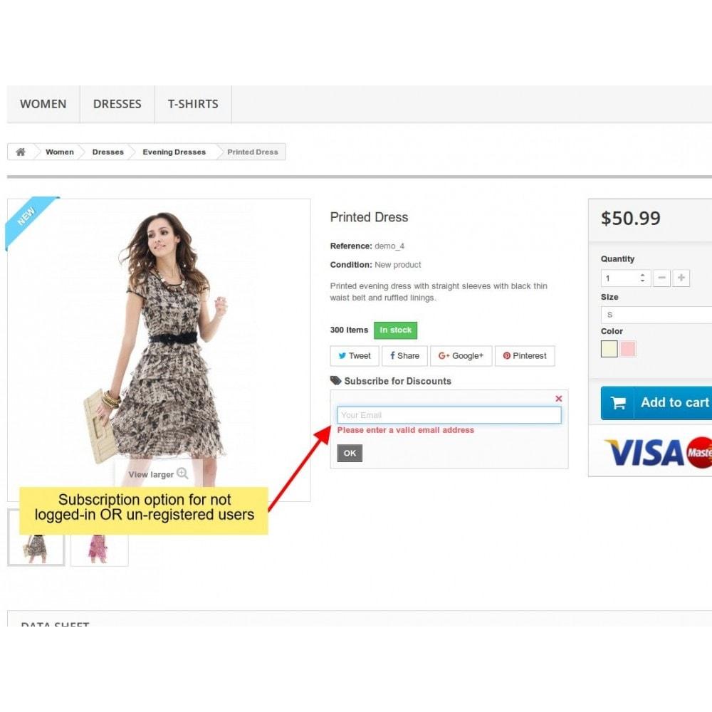 module - E-Mails & Benachrichtigungen - Rabatt Benachrichtigung, Product Benachrichtigungen - 2
