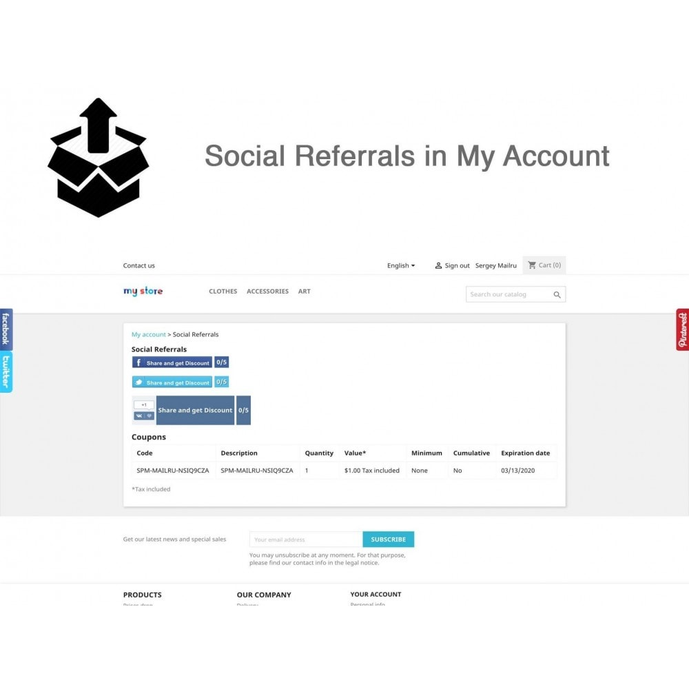 module - Social Login & Connect - Social Pack: Connects, Referrals, Plugins (34 in 1) - 9