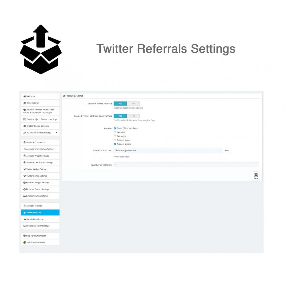 module - Login/Connessione - Social Pack: Connects, Referrals, Plugins (34 in 1) - 44