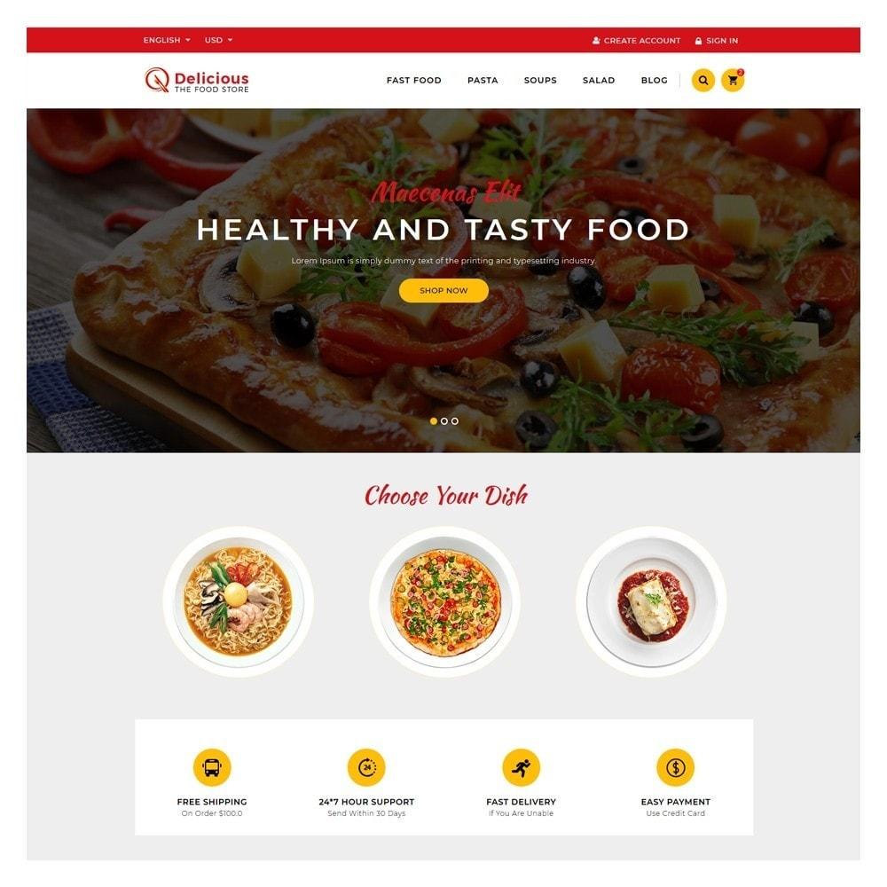theme - Żywność & Restauracje - Delicious Food & Restaurant Store - 2