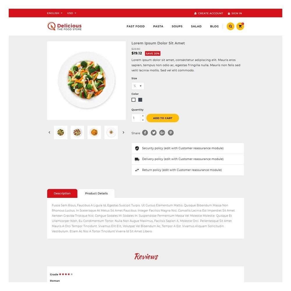 theme - Żywność & Restauracje - Delicious Food & Restaurant Store - 5
