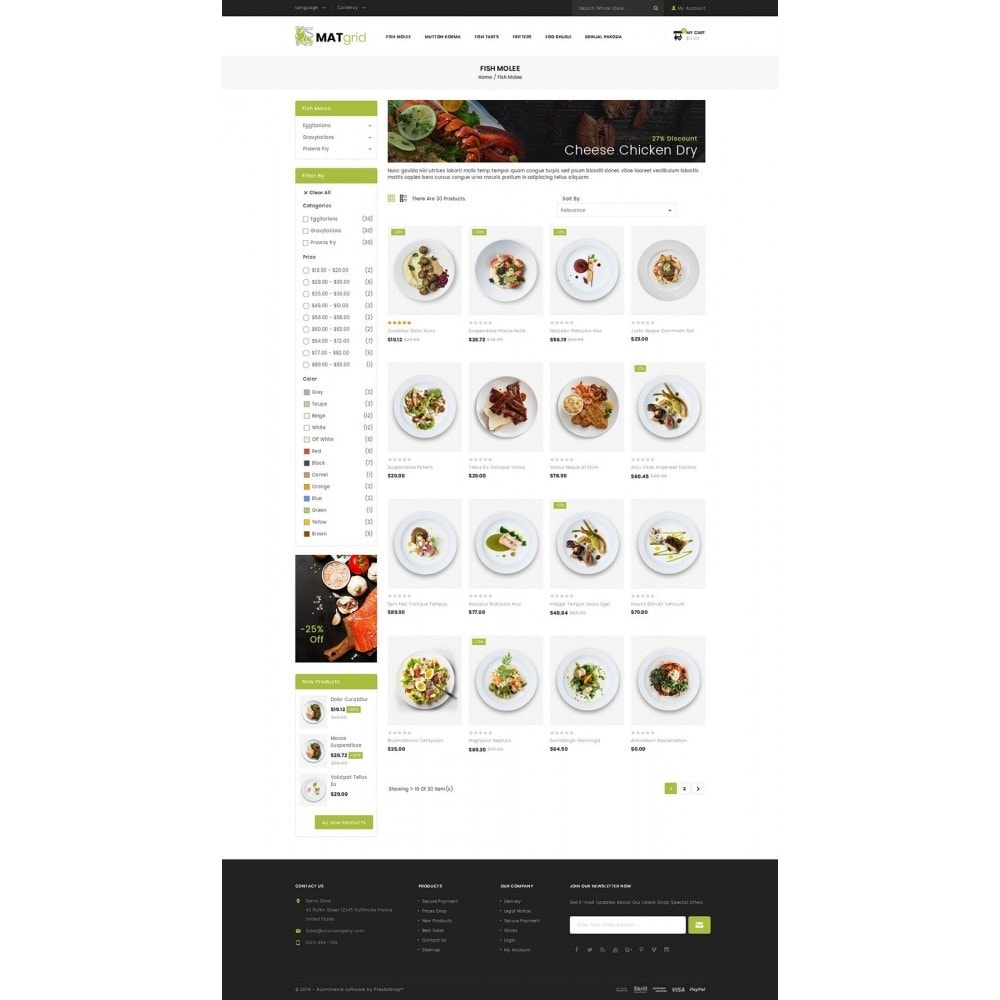 theme - Alimentos & Restaurantes - Matgrid - Restaurants Store - 3