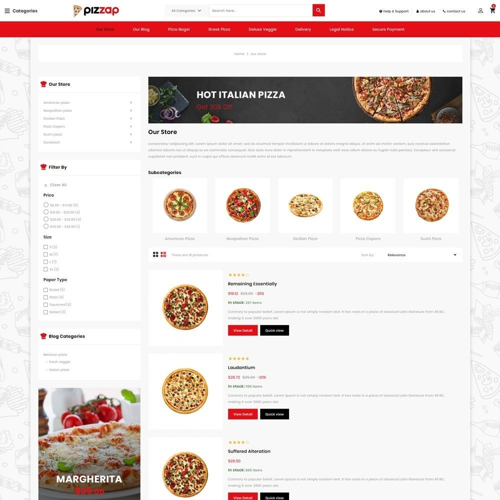 theme - Gastronomía y Restauración - Pizzap - The Fast Food Corner - 5