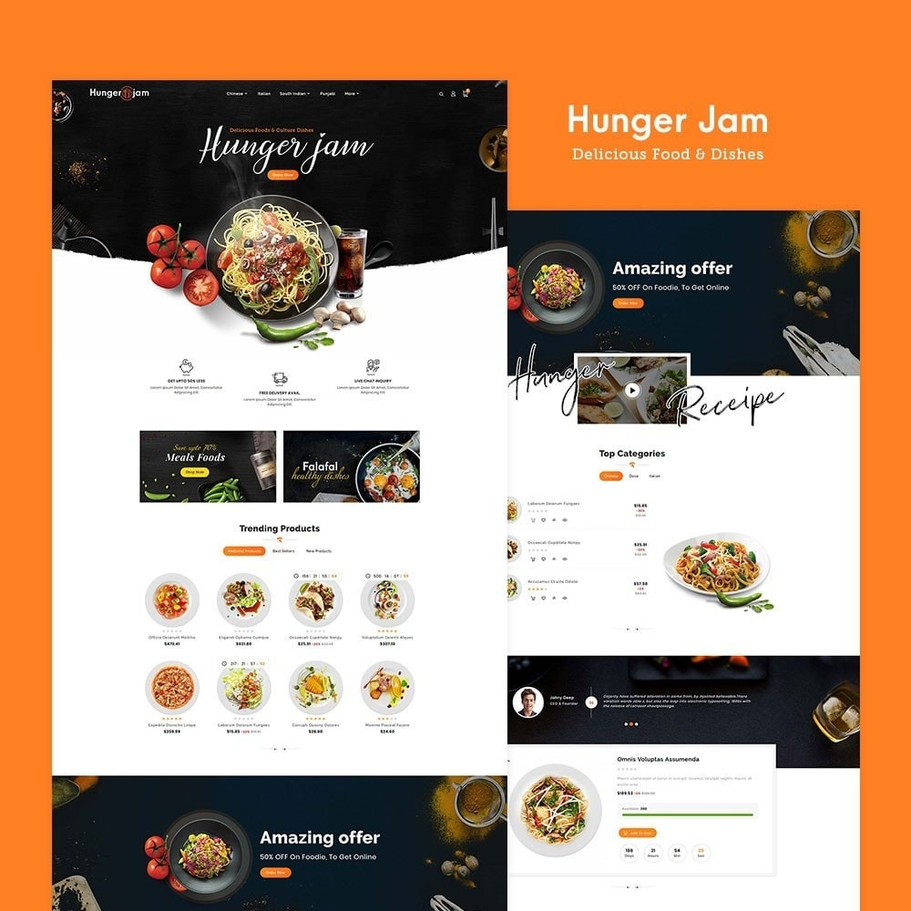 theme - Food & Restaurant - Hunger Jam - Food & Dishes - 2