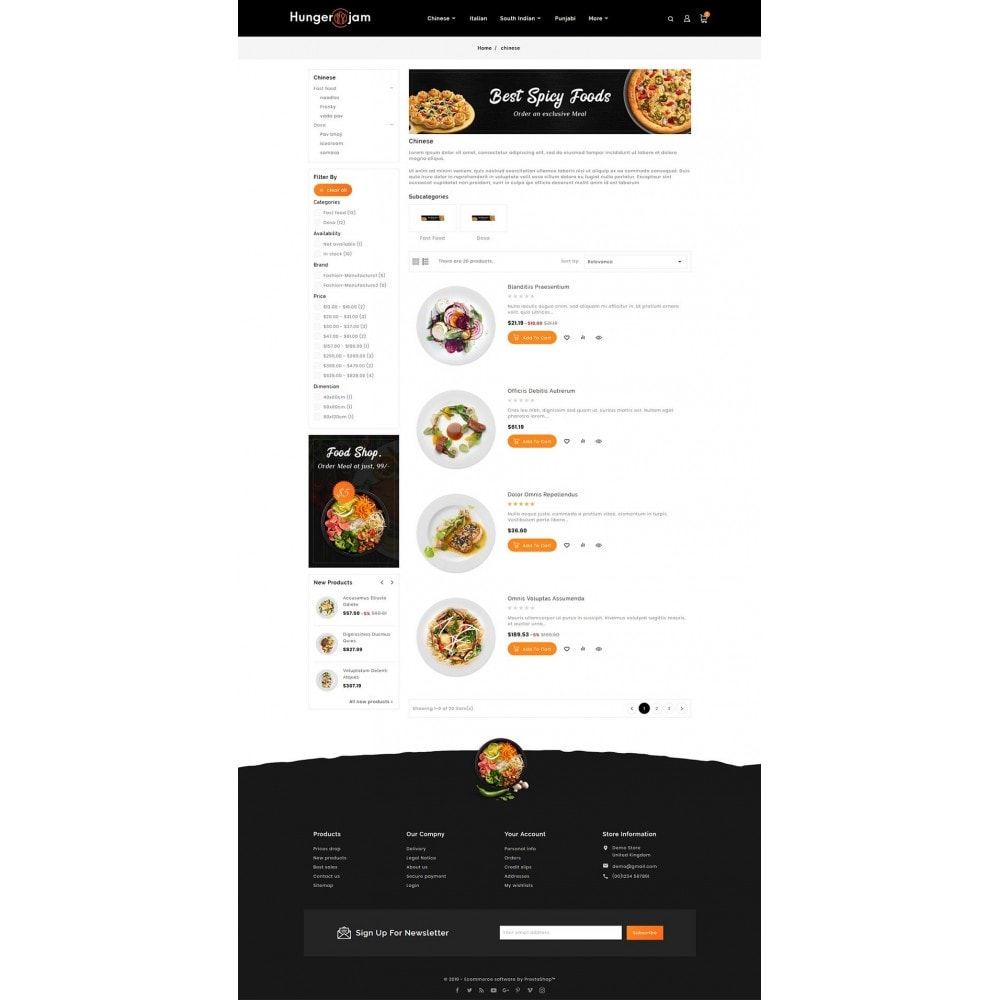theme - Alimentos & Restaurantes - Hunger Jam - Food & Dishes - 4