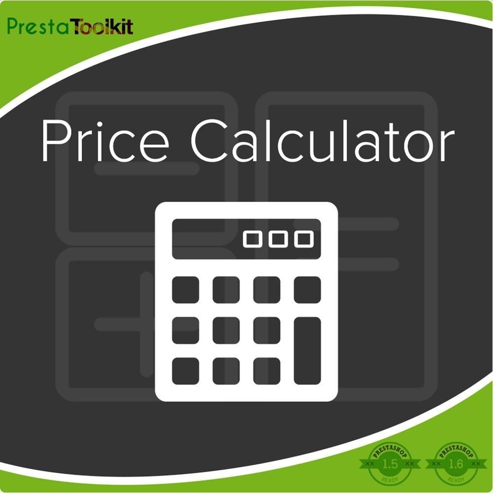 module - Bijkomende Informatie - Prijscalculator, prijsupdate - 1