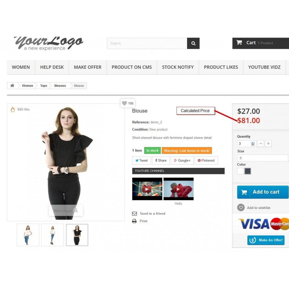 module - Dodatkowe informacje & Zakładka produktu - Kalkulator cen, aktualizacja cen - 3