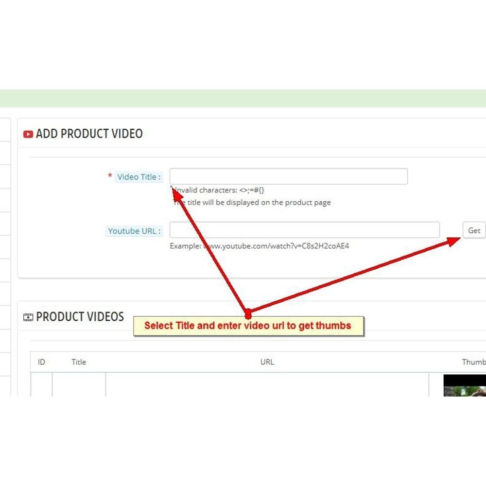 module - Видеоролики и Музыка - Видео о продуктах Youtube - 3