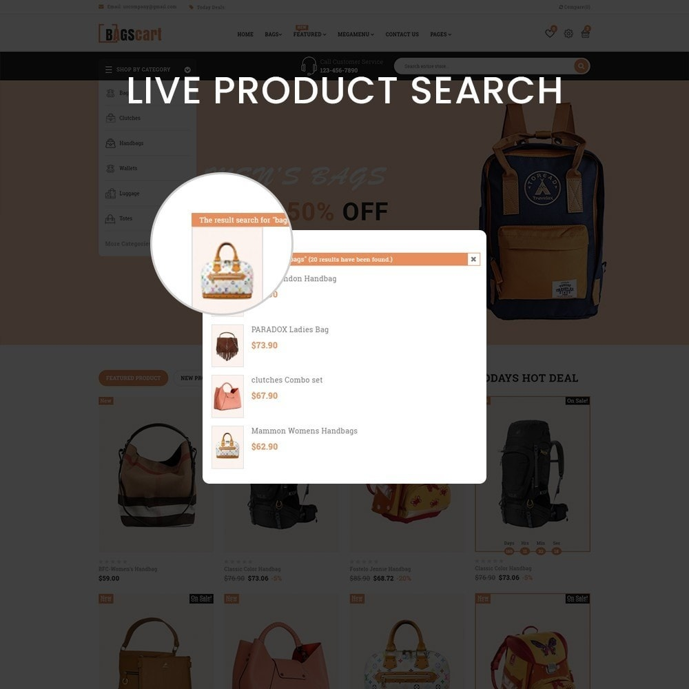 theme - Fashion & Shoes - Bagscart - Multiporpose Mega Bag Store - 6