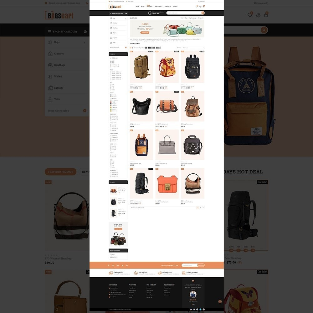 theme - Fashion & Shoes - Bagscart - Multiporpose Mega Bag Store - 13