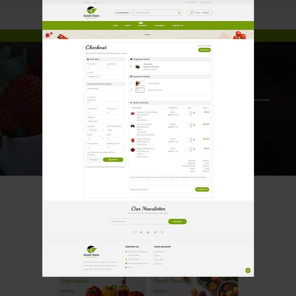 theme - Eten & Restaurant - Greenstore – Multipurpose Vegetable Store - 9