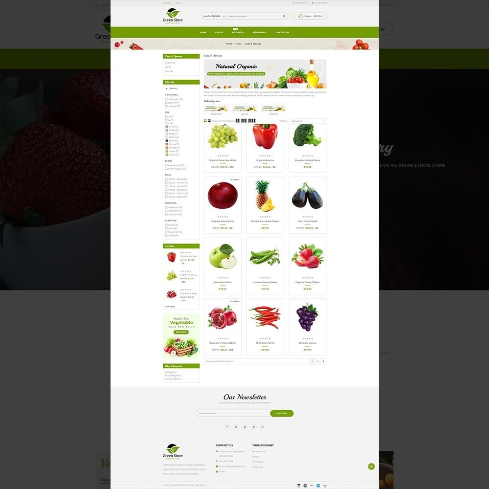 theme - Eten & Restaurant - Greenstore – Multipurpose Vegetable Store - 13