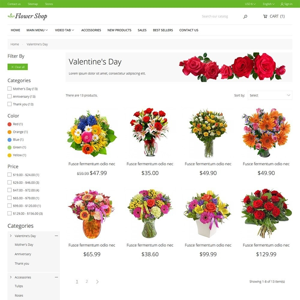 theme - Cadeaus, Bloemen & Gelegenheden - Flower Shop - 7