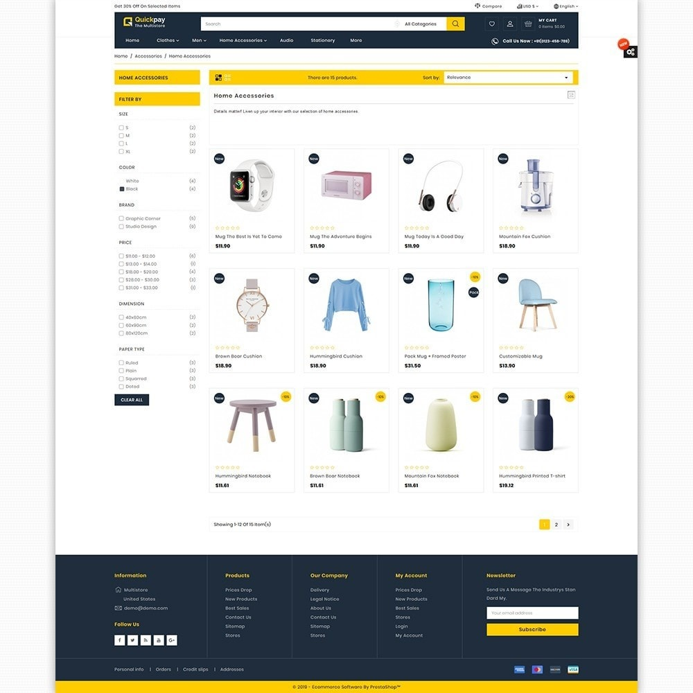 theme - Elektronika & High Tech - Quickpay - The MultiStore Theme - 3