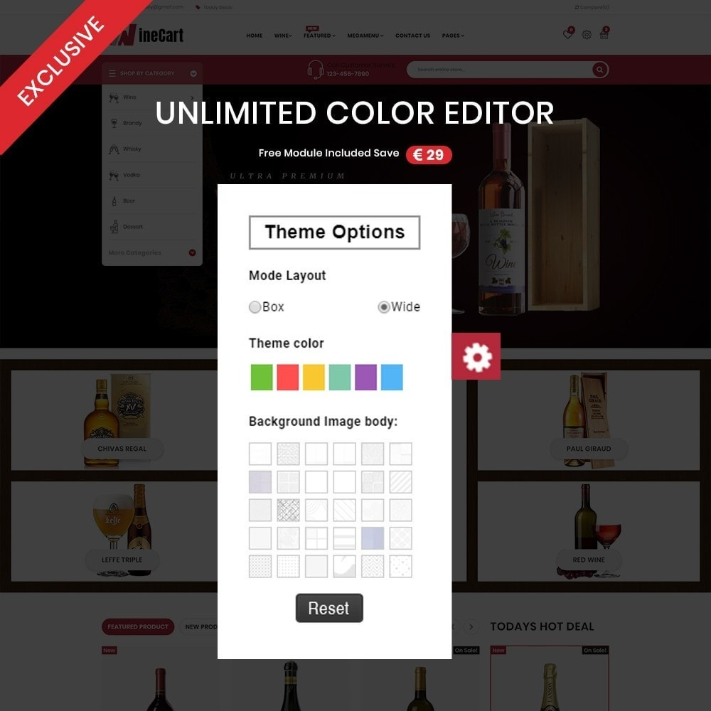 theme - Drink & Wine - Wine cart– Multipurpose Mega Wine Store - 3