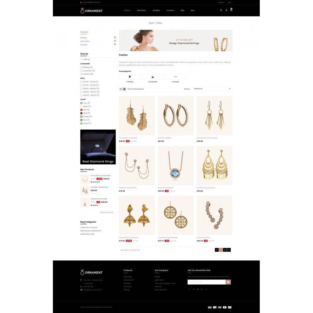 theme - Ювелирные изделия и Аксессуары - Ornament Jewelery Store - 3