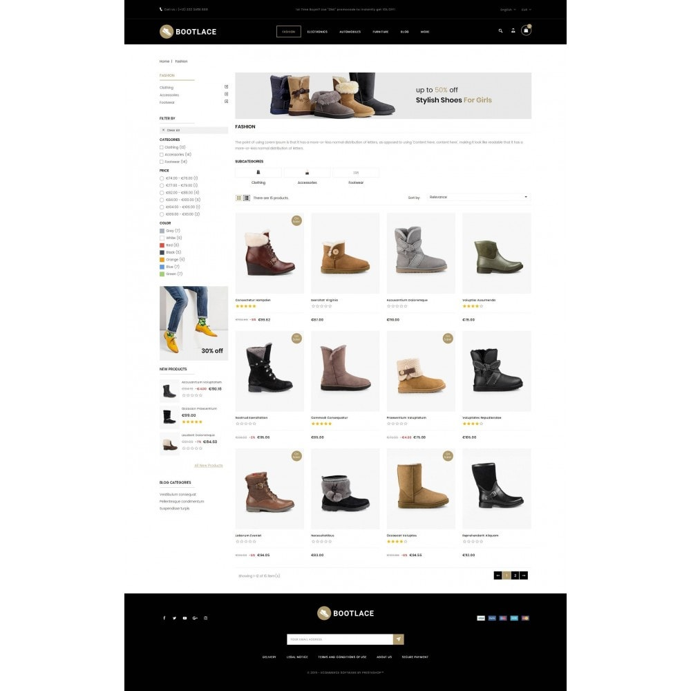 theme - Mode & Schoenen - Bootlace  - Shoes Store - 3