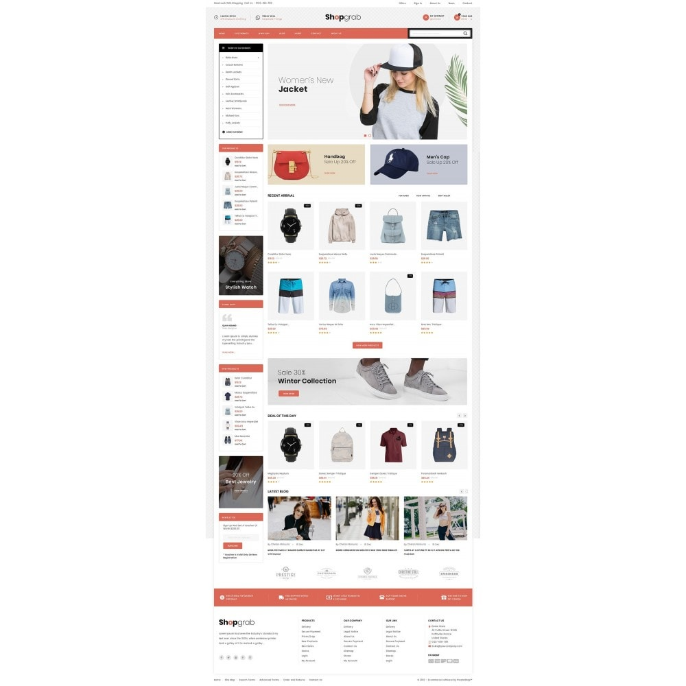 theme - Mode & Chaussures - Shopgrab - Multipurpose Store - 2