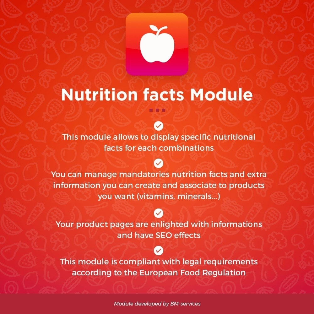 module - Продовольствие и рестораны - Nutrition facts, ingredients and labels - 1