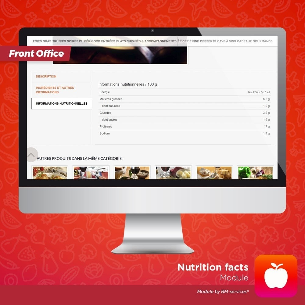 module - Food & Restaurants - Nutrition facts, ingredients and labels - 2