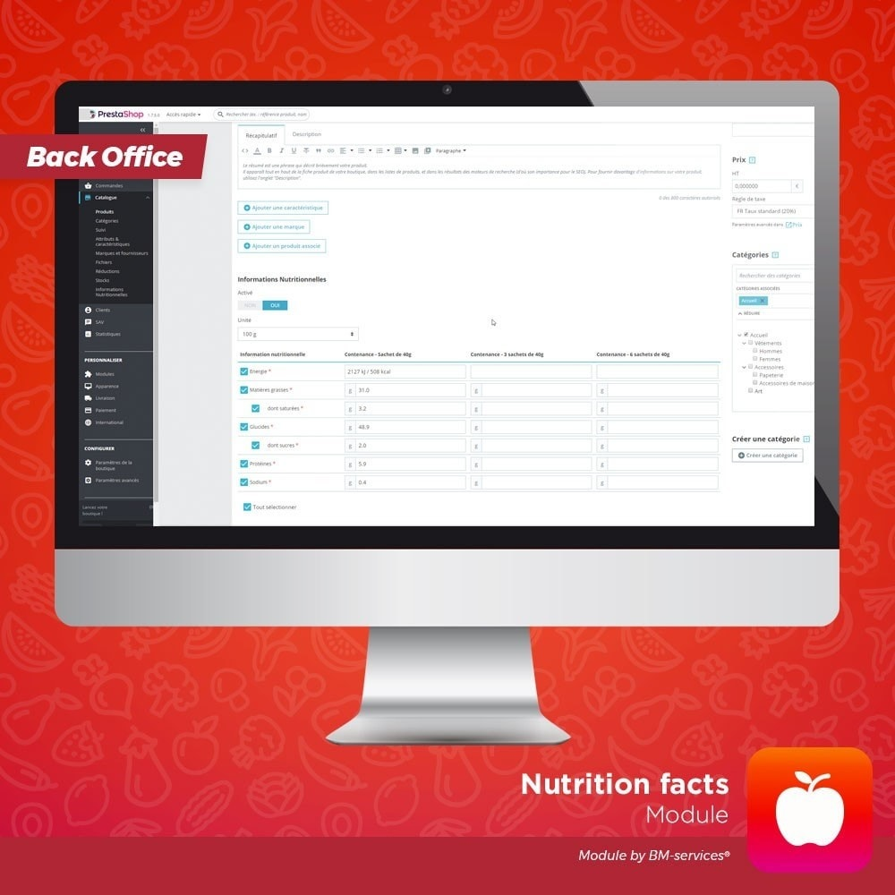 module - Food & Restaurants - Nutrition facts - 4