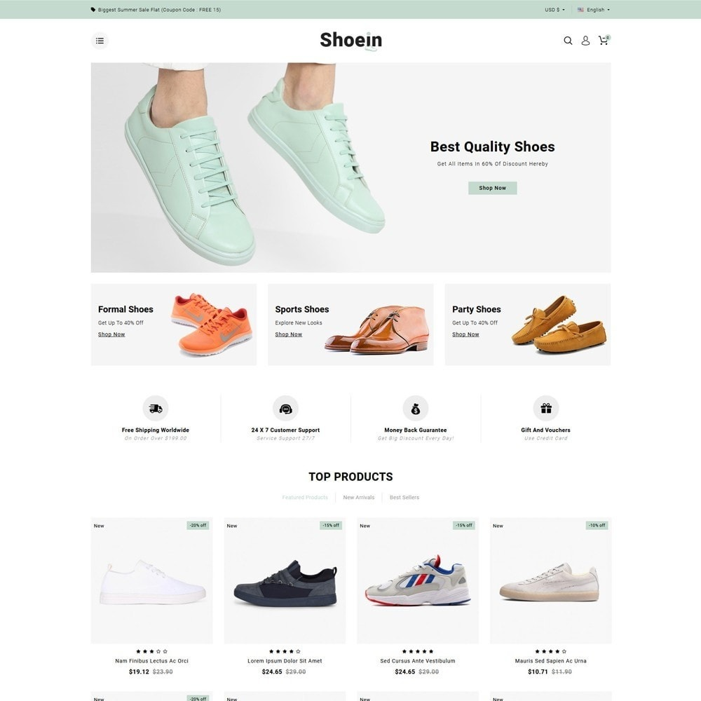 theme - Fashion & Shoes - Shoein Footwear Store - 2