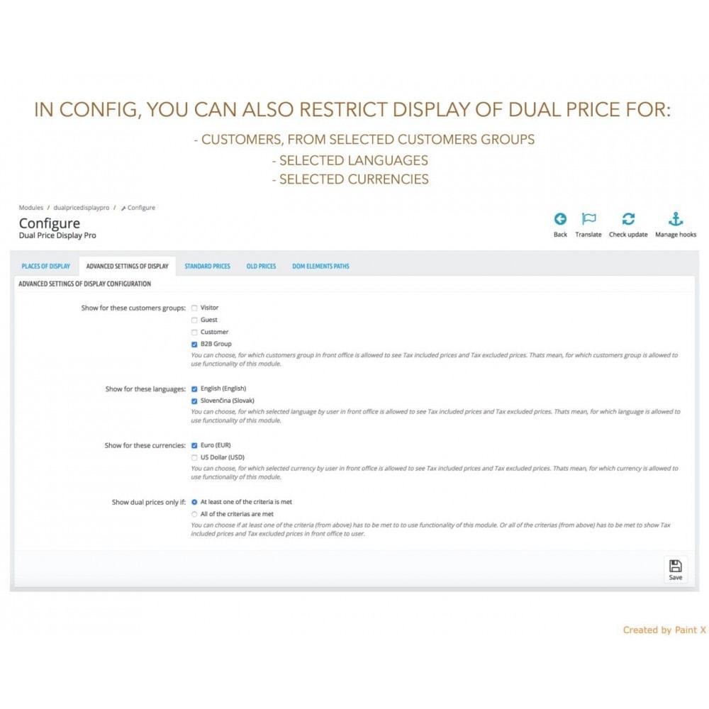 module - Gestion des Prix - Double affichage avancé au prix avec taxe et sans taxe - 8
