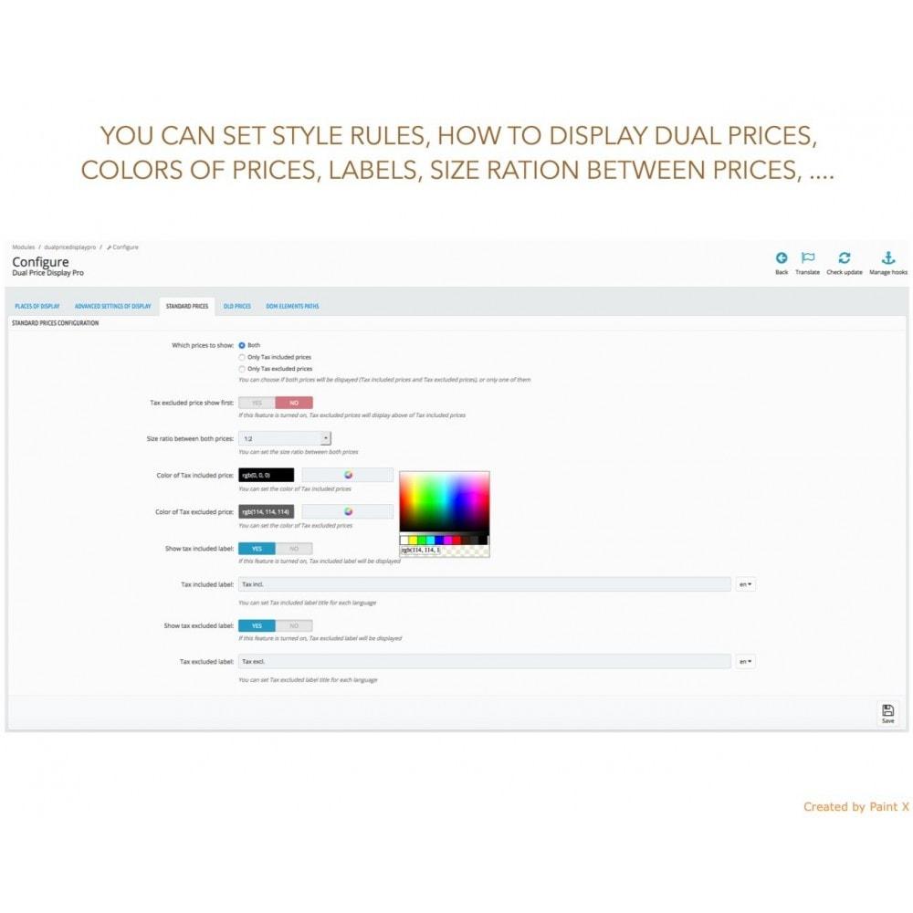module - Gestion des Prix - Double affichage avancé au prix avec taxe et sans taxe - 9