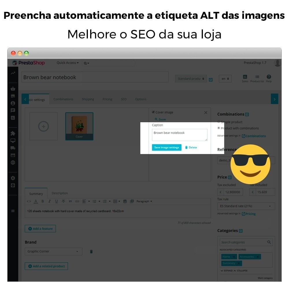 module - SEO (Referenciamento natural) - Imagem SEO - Etiqueta automática de imagem ALT - 3