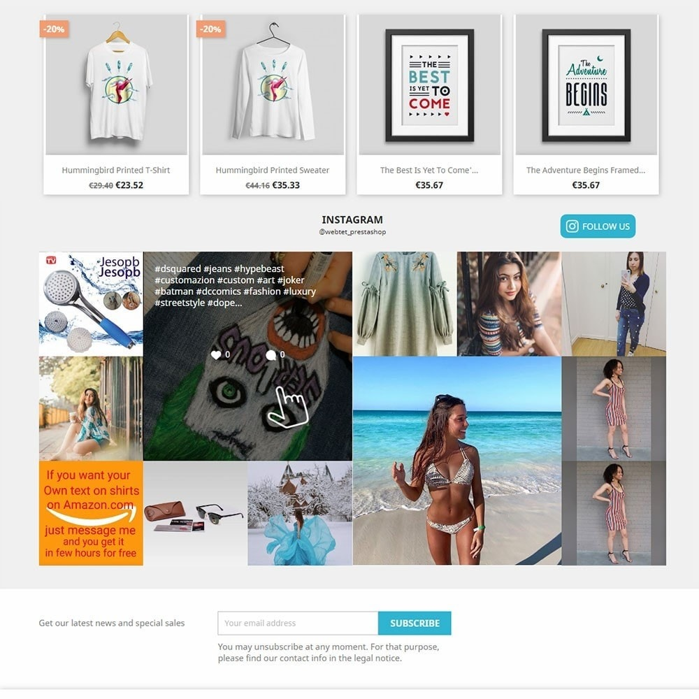 module - Products on Facebook & Social Networks - INSTA Social Feed Gallery Photos User and Hashtag - 3