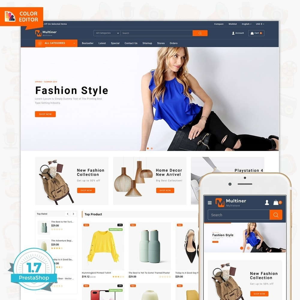 theme - Electronique & High Tech - Multiner - The MultiStore Theme - 1