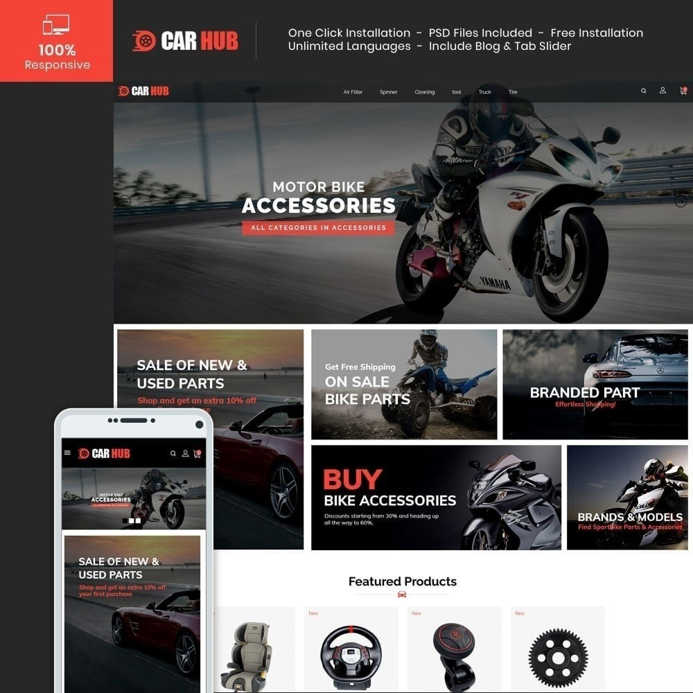 theme - Coches y Motos - Car- Auto Store - 2