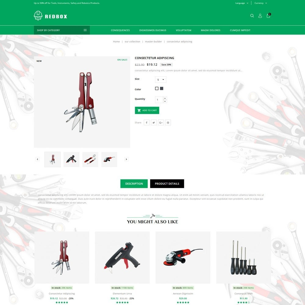 theme - Coches y Motos - Redbox - The Tools Store - 6