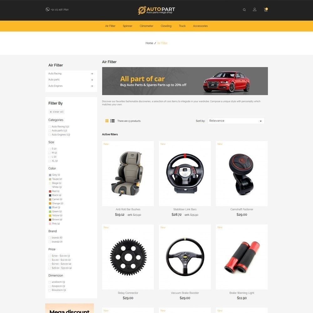 theme - Automotive & Cars - Autoparts Car - Auto Tool Store - 5