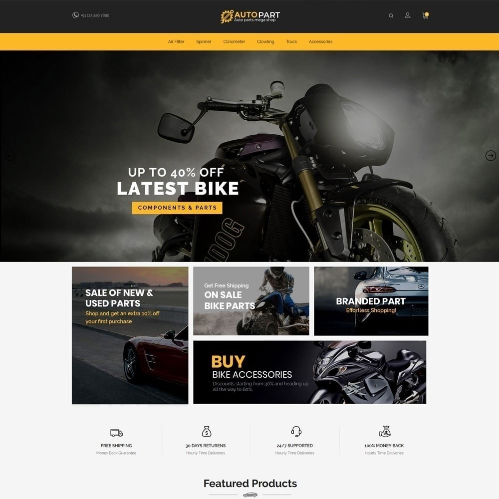 theme - Auto & Moto - Autoparts Car - Magasin d'outils Auto - 2