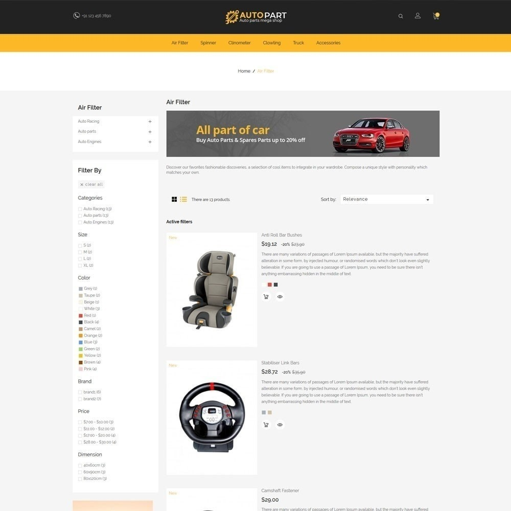 theme - Auto & Moto - Autoparts Car - Magasin d'outils Auto - 6