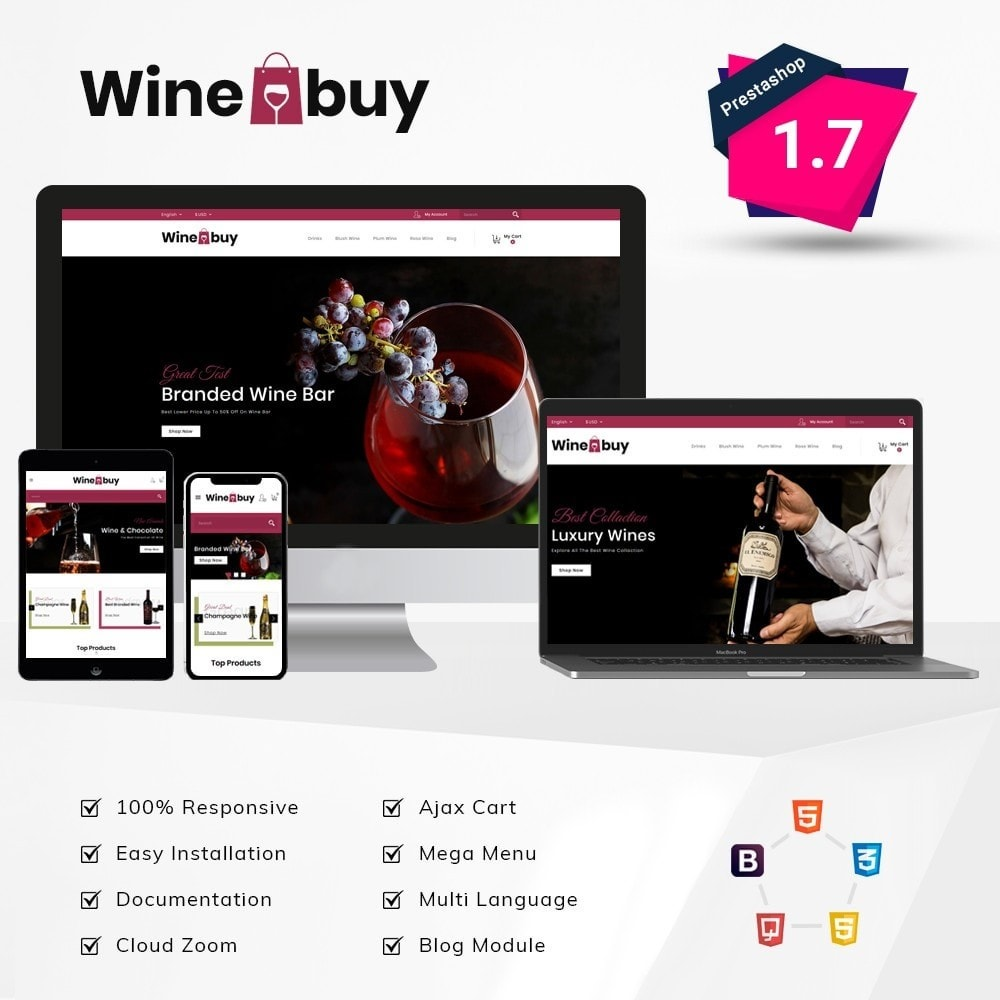 theme - Boissons & Tabac - Wine buy Store - 1