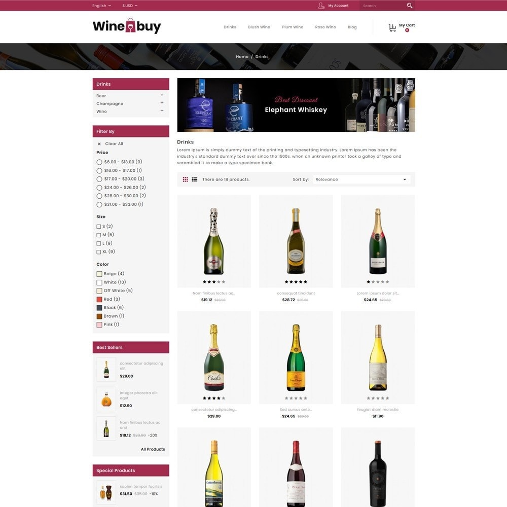 theme - Boissons & Tabac - Wine buy Store - 3