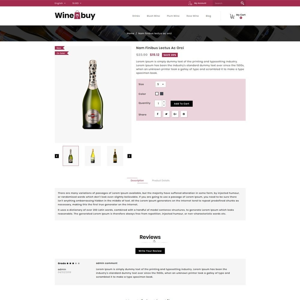 theme - Boissons & Tabac - Wine buy Store - 4