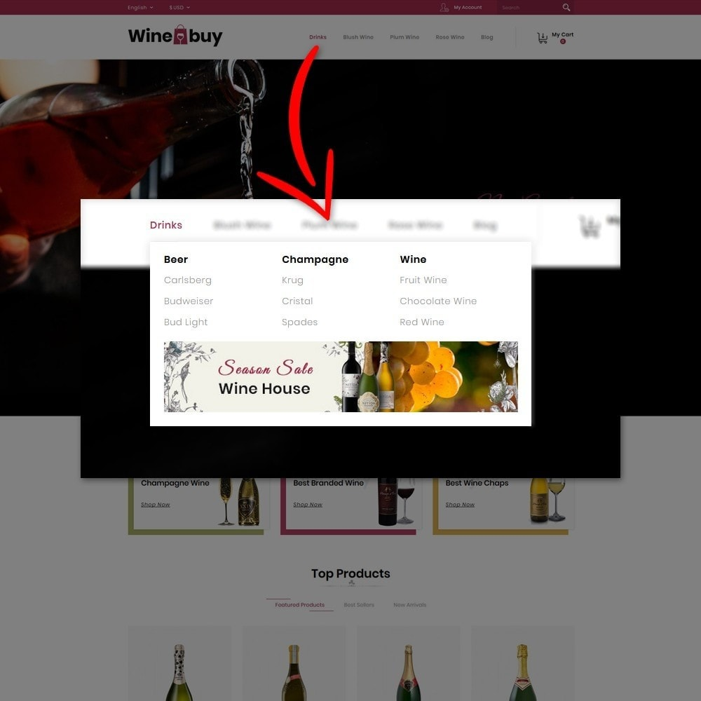 theme - Boissons & Tabac - Wine buy Store - 9
