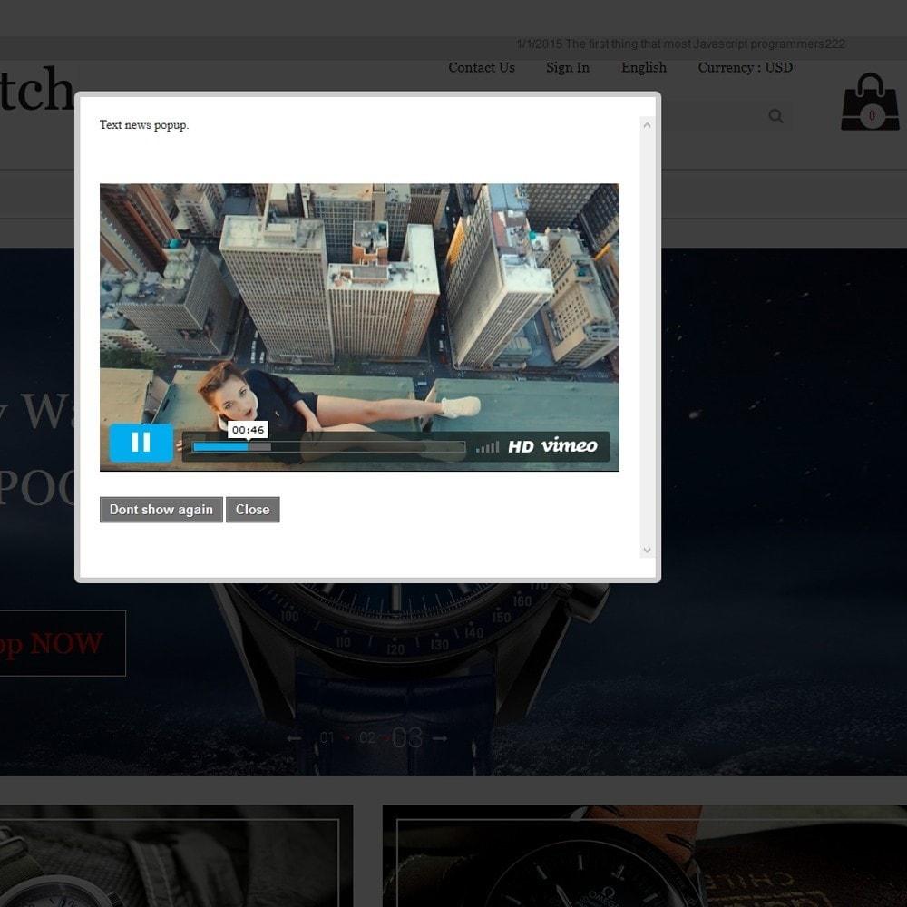 module - Всплывающие окна - Всплывающее промо окно (Попап), с изображениями и видео - 3
