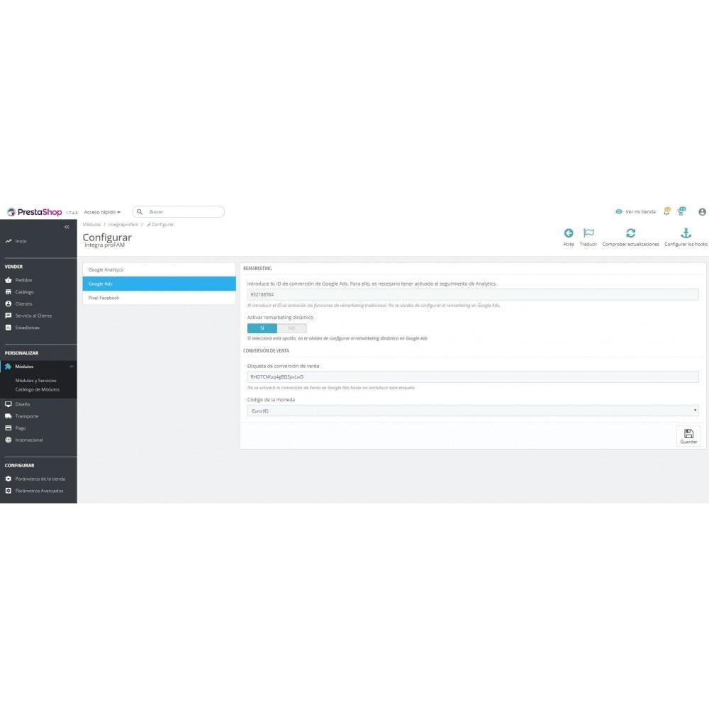 module - Informes y Estadísticas - Conversiones Analytics, Adwords, Pixel y Rmkt (gtag.js) - 3