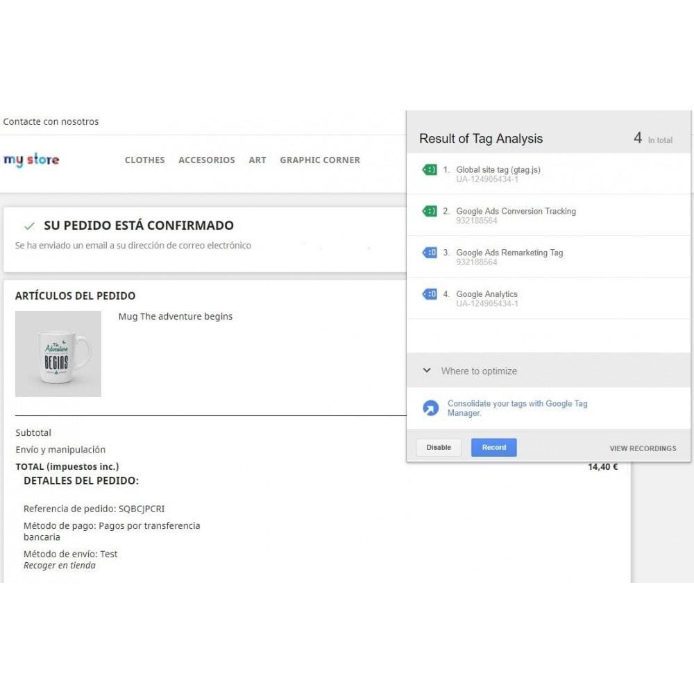 module - Informes y Estadísticas - Conversiones Analytics, Adwords, Pixel y Rmkt (gtag.js) - 4