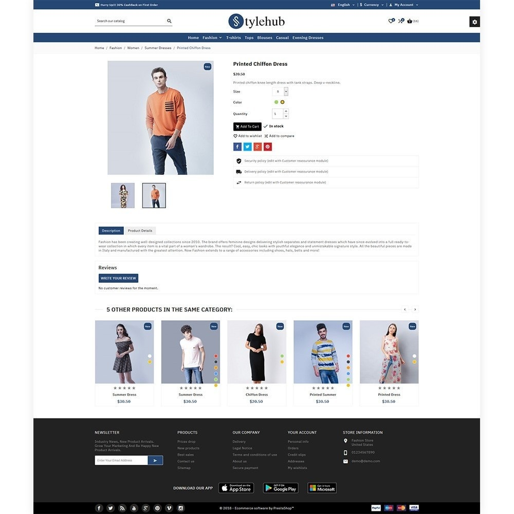 theme - Moda & Calçados - StyleHub Fashion Bootstrap Responsive - 5