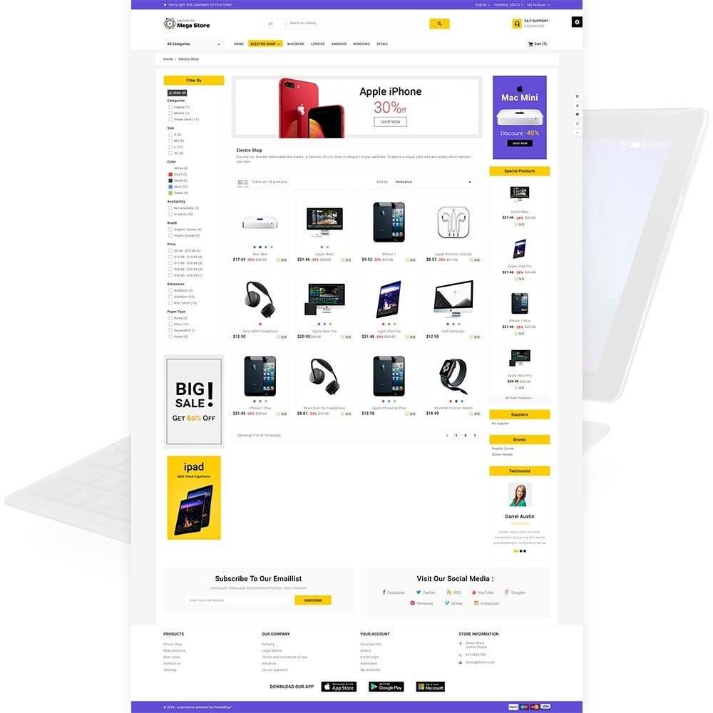 theme - Electronics & Computers - Mega Store Electronic Multistore Responsive - 3