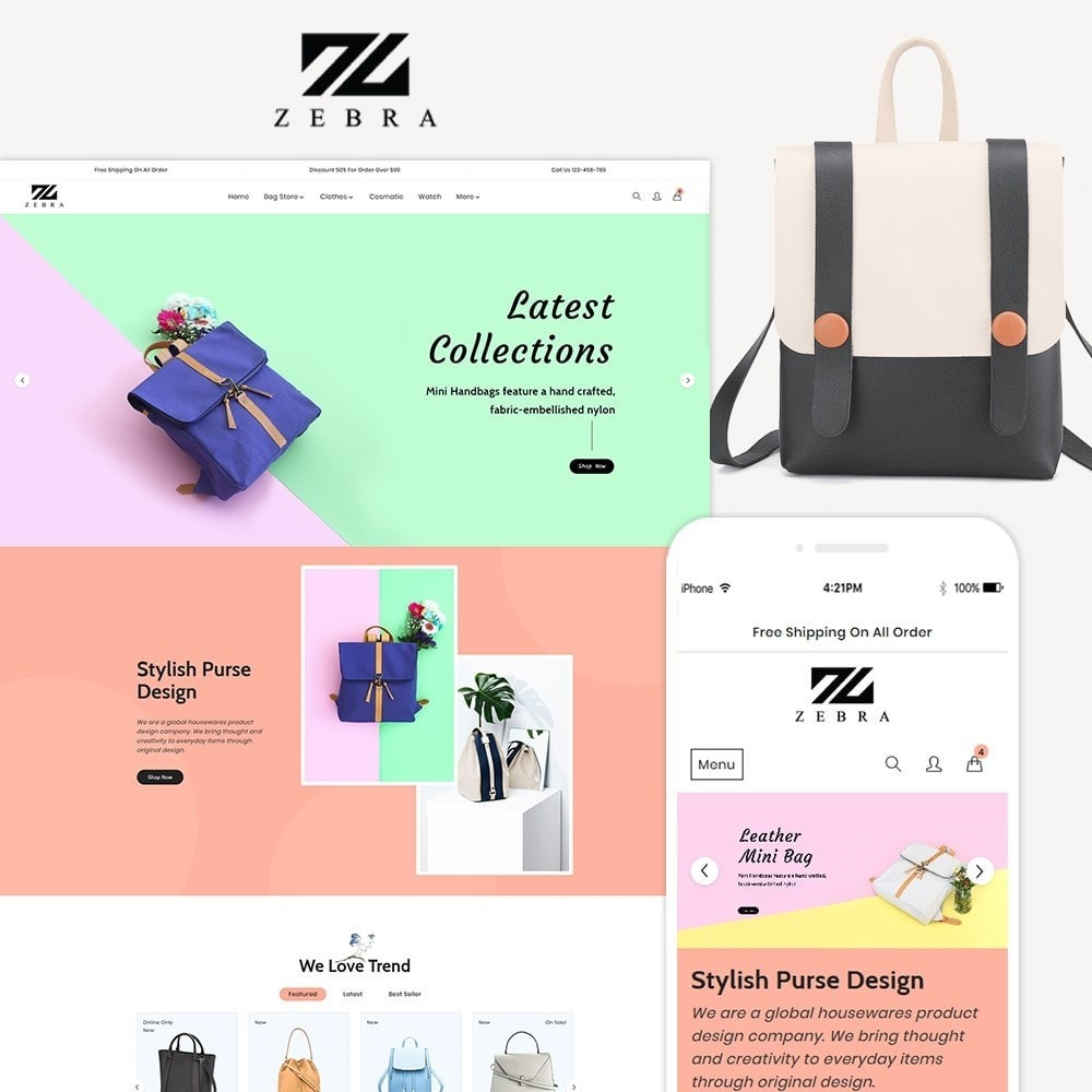 theme - Mode & Chaussures - Zebra Fashion Full Responsive Store - 1