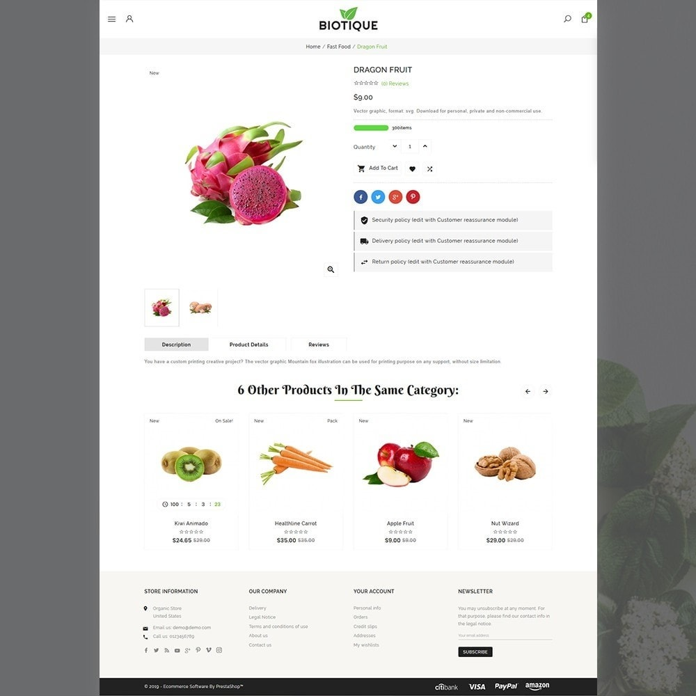 theme - Food & Restaurant - Biotique Organic–Grocery Food–Drink Multistore Store - 4