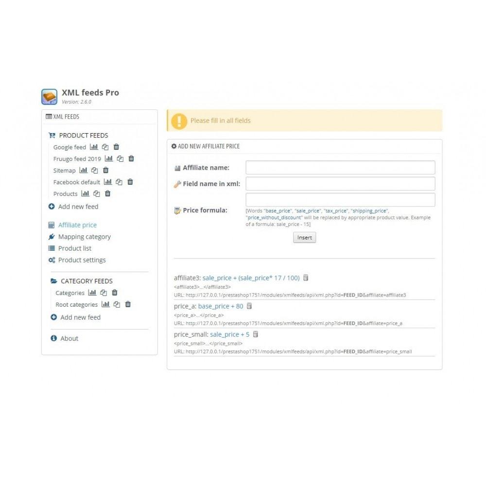 module - Import & Export de données - XML Feeds Pro - 6